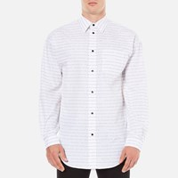 Alexander Wang Men's Relaxed Fit Casual Shirt With Label White
