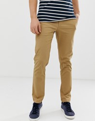 Original Penguin Slim Fit Stretch Chinos In Beige