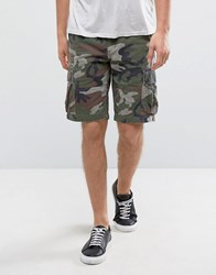 Denim And Supply Ralph Lauren Cargo Shorts Straight Fit In Camo Green