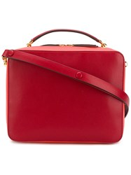 Anya Hindmarch The Stack Double Satchel Red
