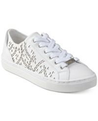 Guess Women's Jacalin Lace Up Sneakers Women's Shoes White