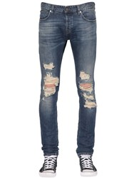 Just Cavalli 17Cm Distressed Cotton Denim Jeans
