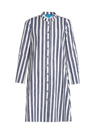 Mih Jeans Tove Striped Cotton Shirtdress Blue White