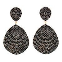 Latelita London Monte Carlo Earring Gold Black Zircon Black Gold