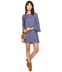 Bb Dakota Lulani Bell Sleeve Dress Indigo Blue Women's Dress