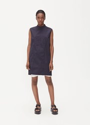 Rick Owens Drkshdw 'S Sleeveless Fork Top In Indigo Size Small 100 Cotton