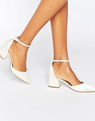 Asos Starling Pointed Heels Ivory Satin Cream