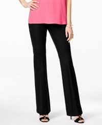Inc International Concepts Flared Leg Trousers Only At Macy's Deep Black