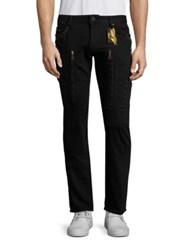 Robin's Jeans Moto Inspired Straight Fit Black