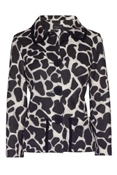 James Lakeland Leopard Print Short Jacket Black