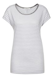 Sandwich Striped T Shirt Grey