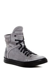 Kenneth Cole Double Header Ii High Top Sneaker Gray