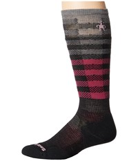 Smartwool Phd Slopestyle Light Ifrane Black Berry Men's Knee High Socks Shoes Purple