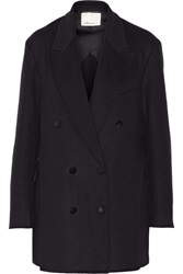3.1 Phillip Lim Double Breasted Wool Coat Blue
