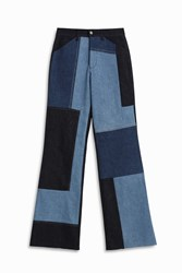 Victoria Beckham Patch Work Jeans Blue