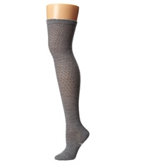 Smartwool Lacy Top Over The Knee Light Gray Heather Women's Knee High Socks Shoes