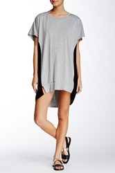 Tov Classic Color Block Shirt Dress Gray