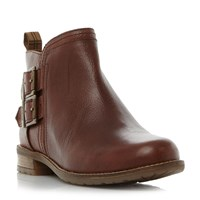 Barbour Sarah Double Buckle Ankle Boots Brown