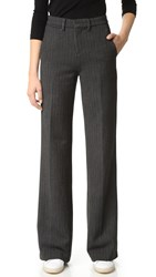 Ag Jeans The Skylar Trousers Defined Herringbone