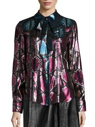 Marc Jacobs Python Button Front Shirt Pink