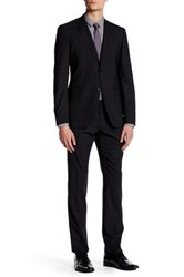 John Varvatos Austin Black Two Button Notch Lapel Suit