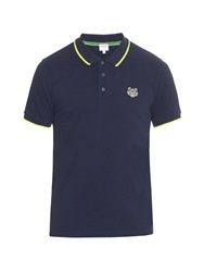 Kenzo Tiger Patch Cotton Pique Polo Shirt