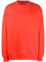 Acne Studios Oversized Sweatshirt Red