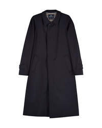 Aquascutum London Filey Single Breasted Raincoat Navy