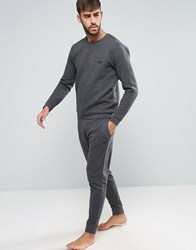 Boss By Hugo Quilted Cuffed Joggers In Regular Fit Grey Grey