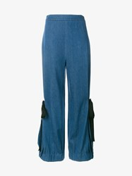 Creatures Of The Wind Denim Wide Leg Trousers Blue