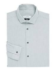 Versace Trend Fit Striped Dress Shirt White Grey