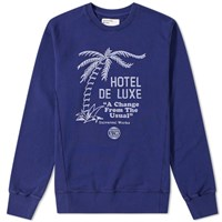 Universal Works Palm Deluxe Crew Sweat Blue