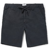 Hartford Slim Fit Drawstring Cotton Shorts Gray