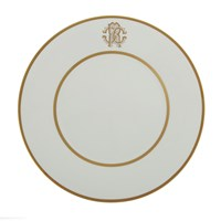 Roberto Cavalli Silk Gold Charger Plate