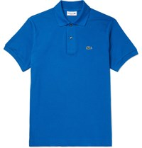 Lacoste Slim Fit Cotton Pique Polo Shirt Blue