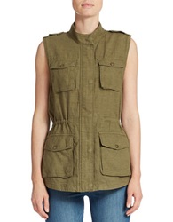 Lucky Brand Military Vest Army Green