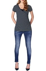 Women's Noppies 'Lely' Stripe Maternity Nursing Tee