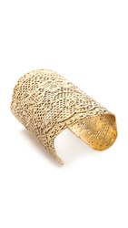 Aurelie Bidermann Lace Cuff Gold