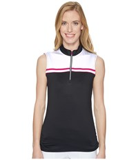Callaway Color Blocked Sleeveless Polo Caviar Women's Sleeveless Black