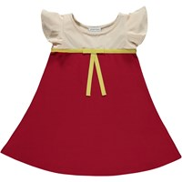 Dancing In The Grass Butterfly Dress Color Block Red