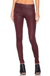James Jeans Twiggy Slip On Coated Legging Rouge Noir Glossed