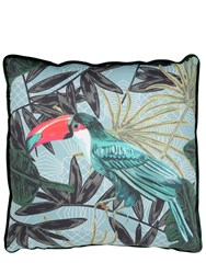 Marioni Tropical Printed Cotton Pillow
