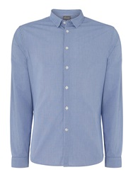 Linea Athmac Check Printed Long Sleeved Shirt Blue