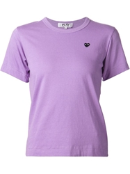 Comme Des Garcons Play Mini Heart Print T Shirt Pink And Purple