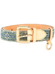 Louis Vuitton Vintage Ceinture Buckle Belt Blue