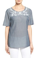 Nydj Women's Embroidered Cotton Top