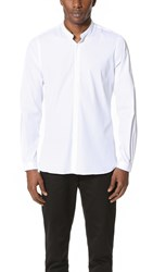 The Kooples Band Collar Dress Shirt White