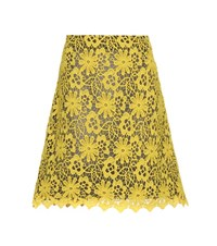 Dorothee Schumacher With Conviction Lace Skirt Yellow