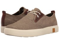 Timberland Amherst Plain Toe Canvas Oxford Olive Canvas Men's Lace Up Casual Shoes