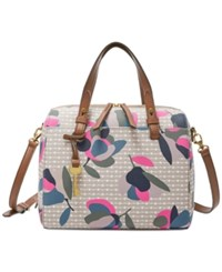 Fossil Rachel Small Satchel Floral Multi White